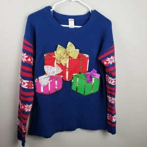 Holiday Time Blue Size M Ugly Christmas Sweater